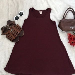 Burgundy tank dress by Mossimo